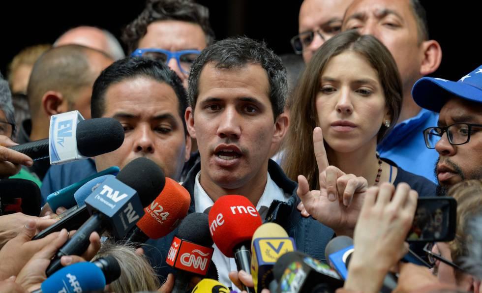Juan Guaidó, este domingo.
