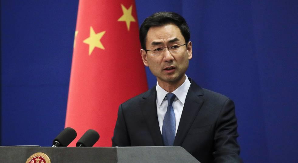 El portavoz del Ministerio de Exteriores chino, Geng Shuang, este martes en Pekín.rn