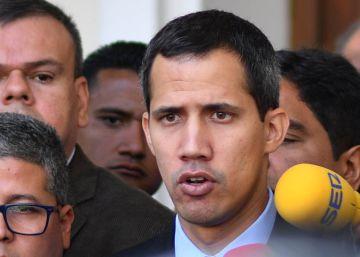 El presidente de la Asamblea Nacional, Juan Guaidó, este martes en Caracas.