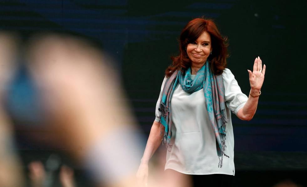 La expresidenta Cristina Fernández de KIrchner durante un mitin en Buenos Aires, en noviembre de 2018.