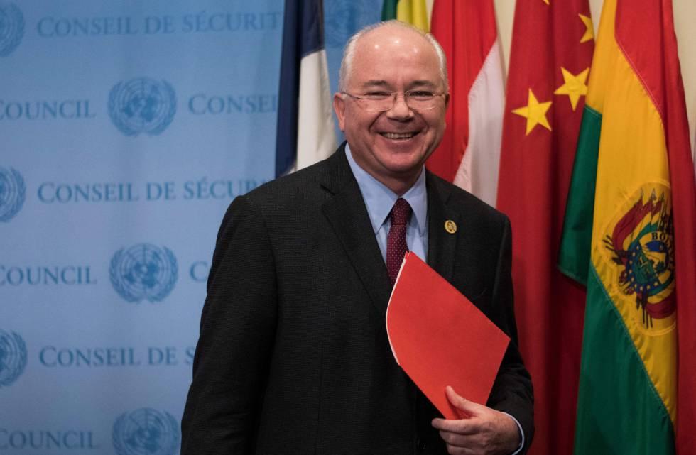 Rafael Ramírez, en Nueva York en noviembre de 2017 cuando era embajador de Venezuela ante la ONU. rn