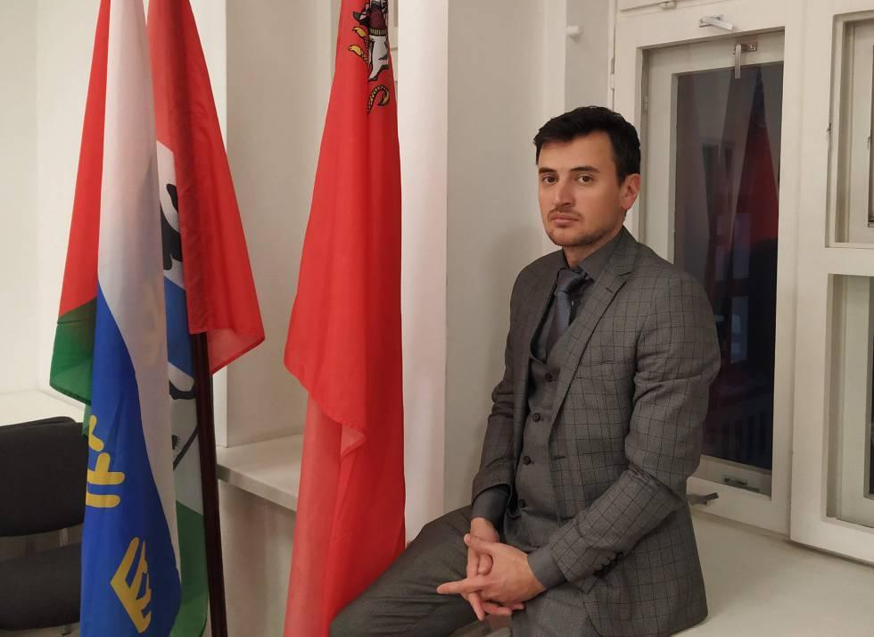 Alexánder Solovyov, miembro del Consejo federal del movimiento Rusia Abierta, en la sede de la entidad en Moscú.