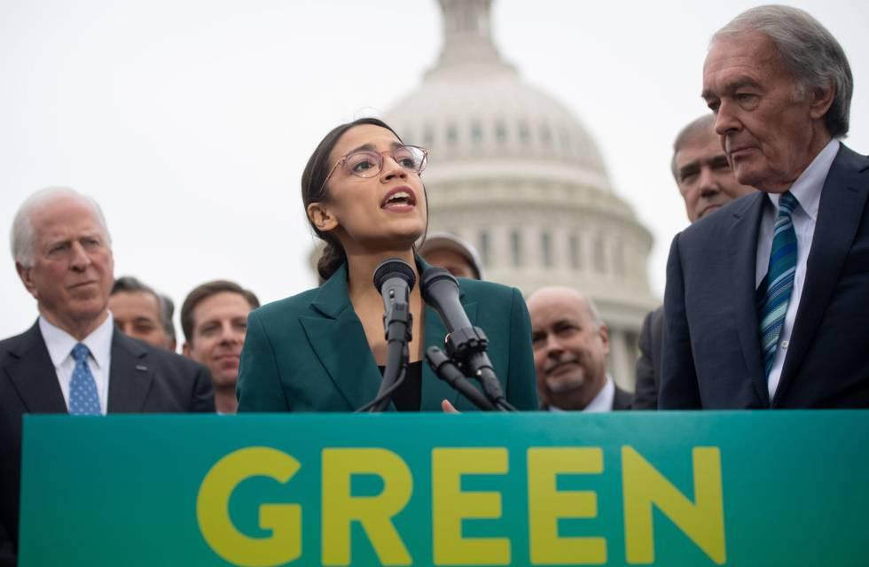 USA. La demócrata Ocasio-Cortez impulsa un 'New Deal' medioambiental