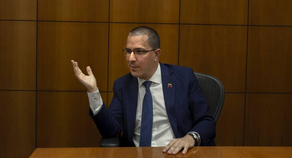 Jorge Arreaza, durante la entrevista.