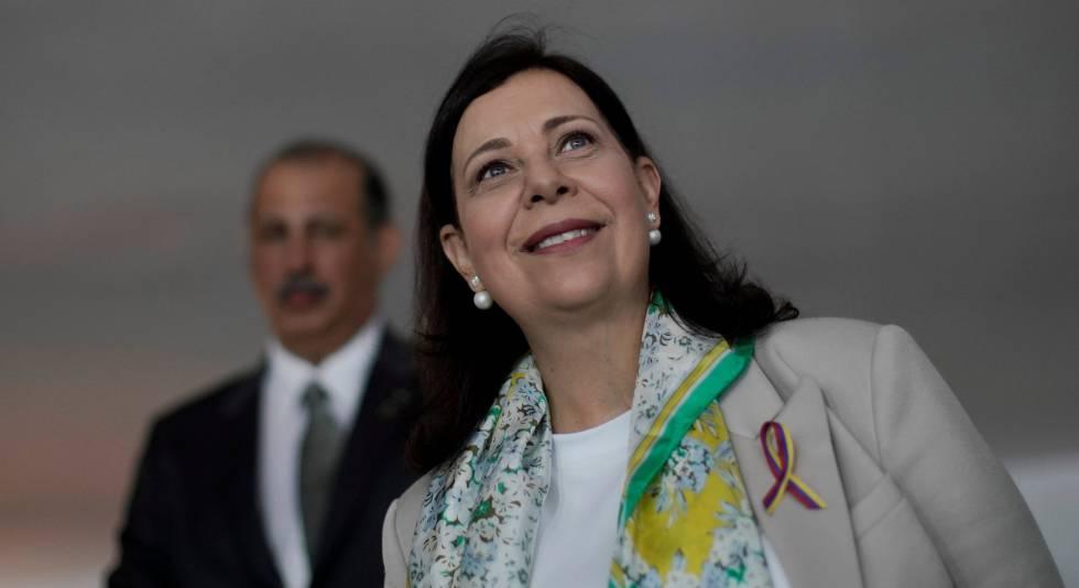 La nueva embajadora de Venezuela, Maria Teresa Belandria, este lunes.