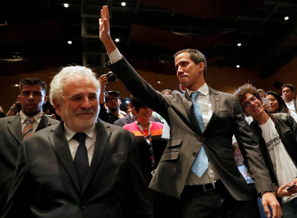 El líder de la oposición a Maduro, Juan Guaidó.