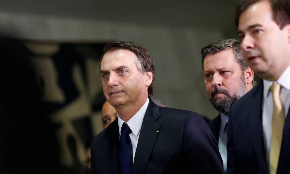 El presidente brasileño, Jair Bolsonaro, este miércoles en el Congreso.