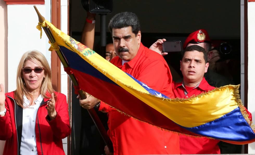 Nicolás Maduro durante una celebración del fin de la dictadura Marcos Pérez Jiménez, en Caracas.