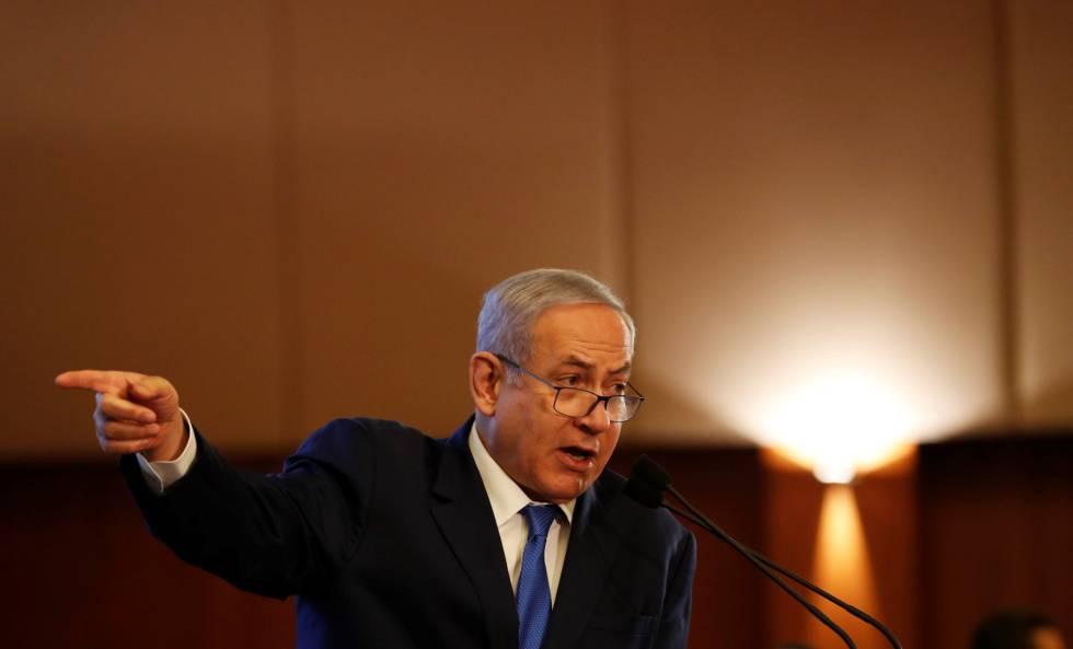 El primer ministro de Israel, Benjamín Netanyahu, en un acto en Jerusalén.