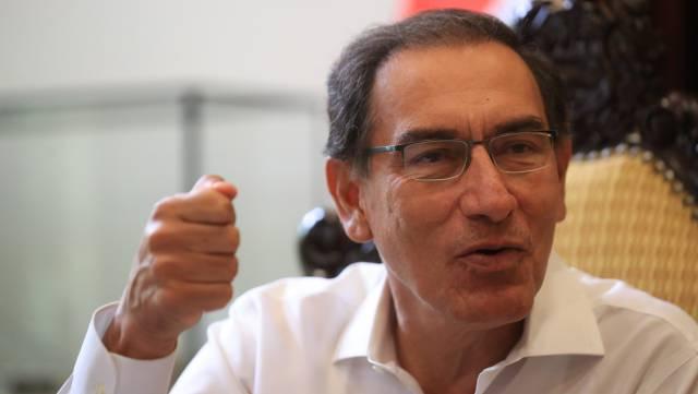 Martín Vizcarra, durante la entrevista.