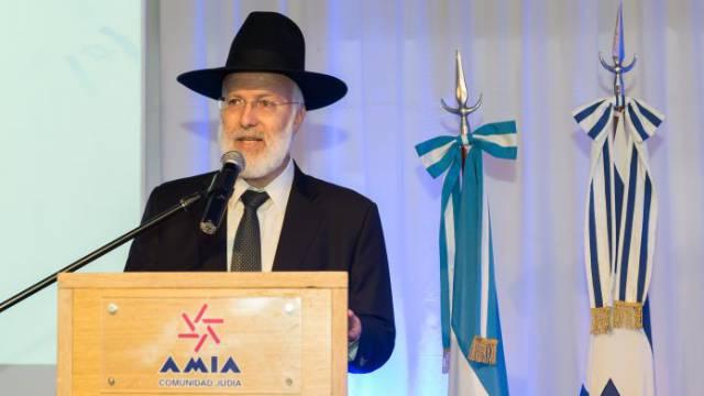 El gran rabino de la AMIA, Gabriel Davidovich.