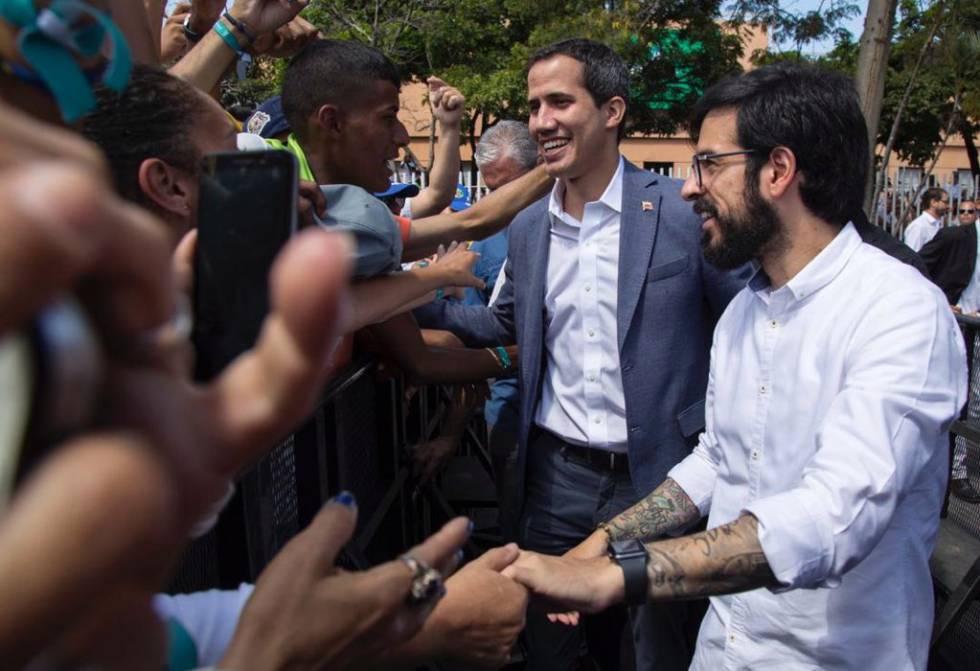 Pizarro, con Juan Guaidó.