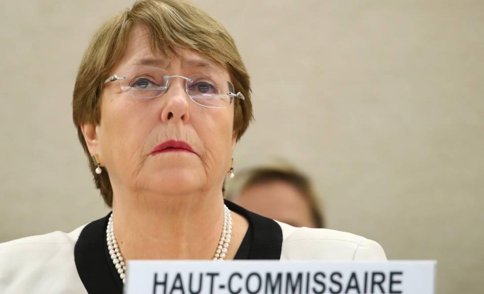 La alta comisionada para los Derechos Humanos, Michelle Bachelet, el miércoles.
