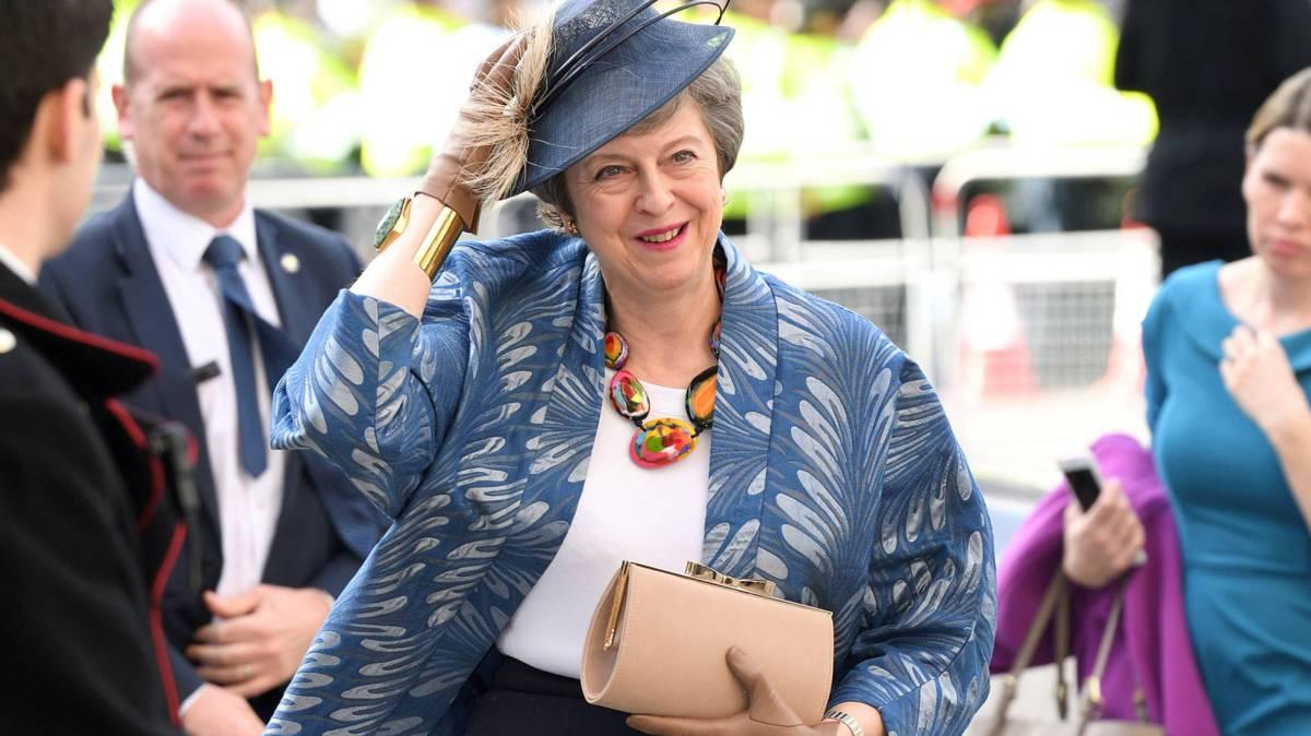Theresa May, este lunes, en un acto oficial en la Abadía de Westminster.