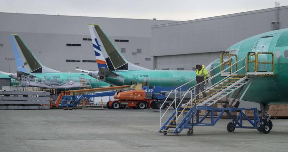 Aviones de la variante B737 MAX en la fábrica de Renton (Washington)