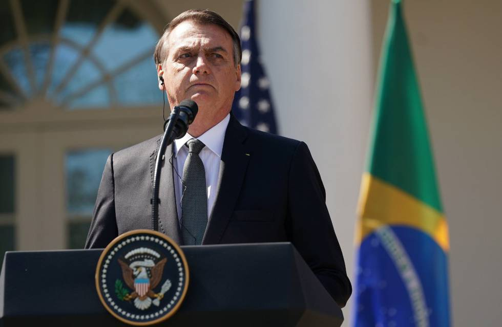 Bolsonaro on his visit to Washington.