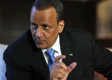 El ministro de Exteriores de Mauritano, Ismael Ould Cheikh Ahmed, durante la entrevista.