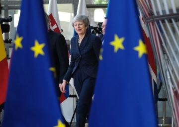 La primera ministra británica, Theresa May, en la Cumbre Europea el 21 de marzo de 2019.