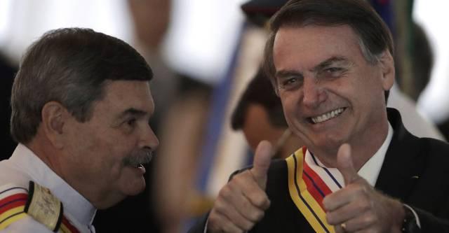 El presidente Bolsonaro este jueves en Brasilia.