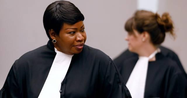 La fiscal de la CPI Fatou Bensouda, durante el juicio al congoleño Bosco Ntaganda, en agosto de 2018 en La Haya.