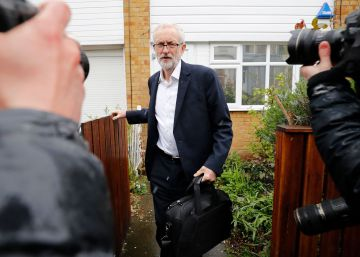 El líder laborista, Jeremy Corbyn, ayer en Londres.