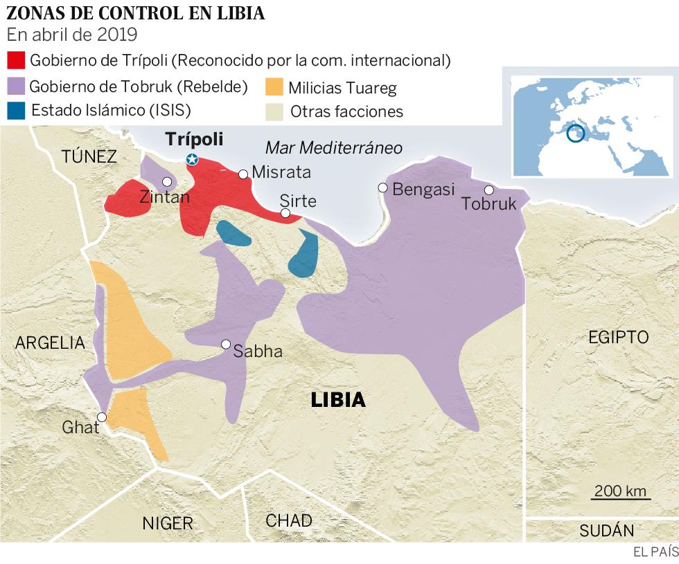 La ofensiva del general rebelde Hafter sitúa a Libia al borde de una guerra abierta