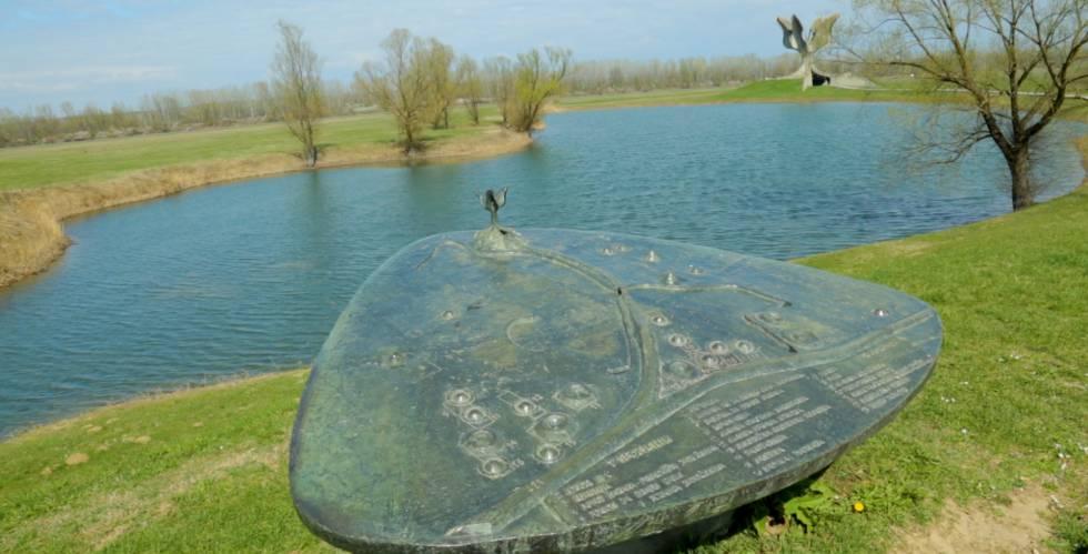 El espacio conmemorativo del campo de concentración de Jasenovac, el pasado marzo.