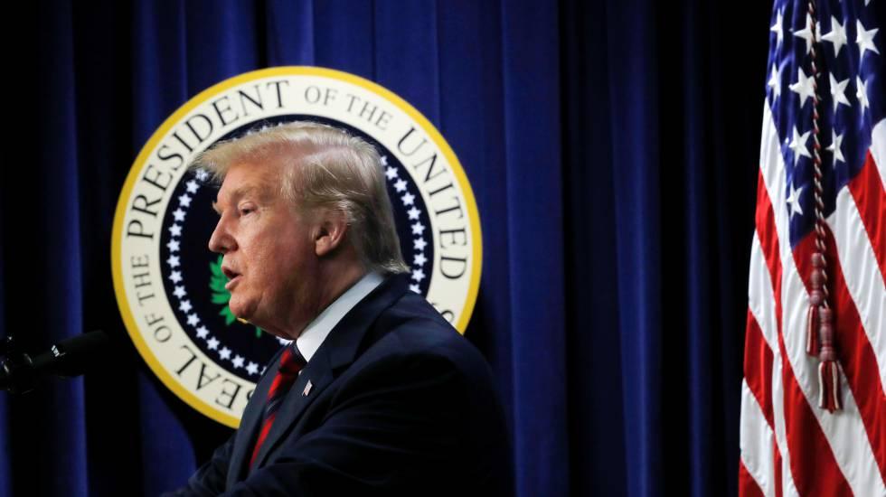 Donald Trump, en un acto en la Casa Blanca.