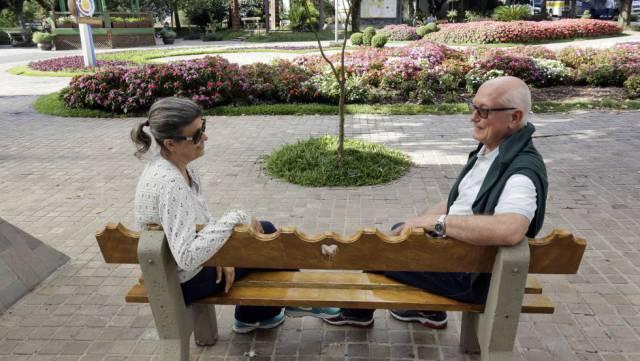 Los jubilados Silva y Vilimar Sabin, en Nova Petrópolis