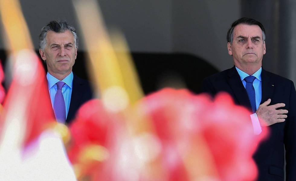 Los presidentes Mauricio Macri y Jair Bolsonaro en una imagen de enero pasado en Brasilia.