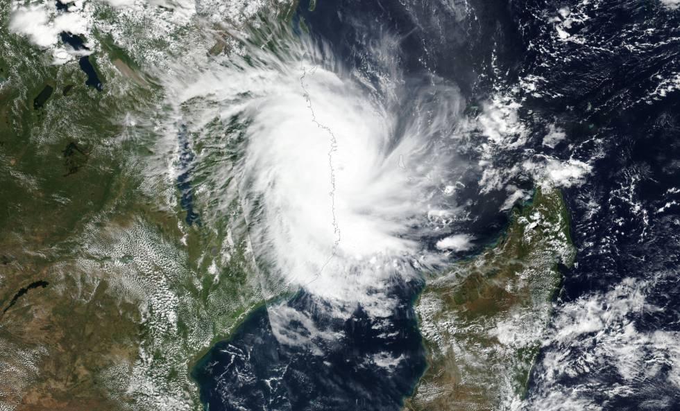 El ciclón Kenneth antes de llegar a Mozambique.