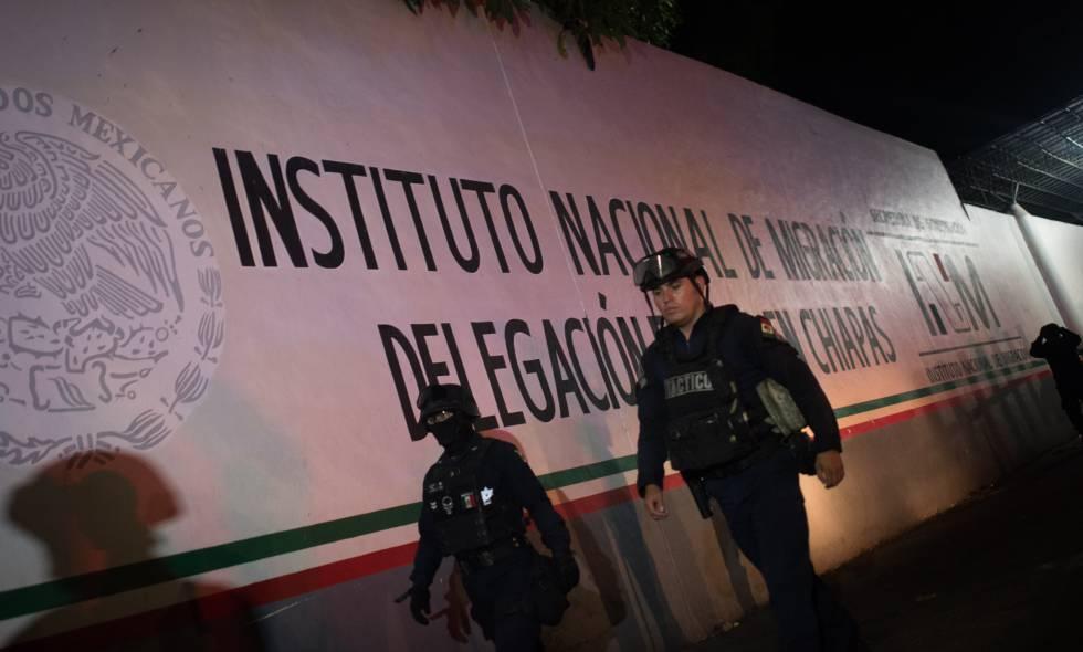 El centro para migrantes en Tapachula donde se ha producido la fuga este jueves.