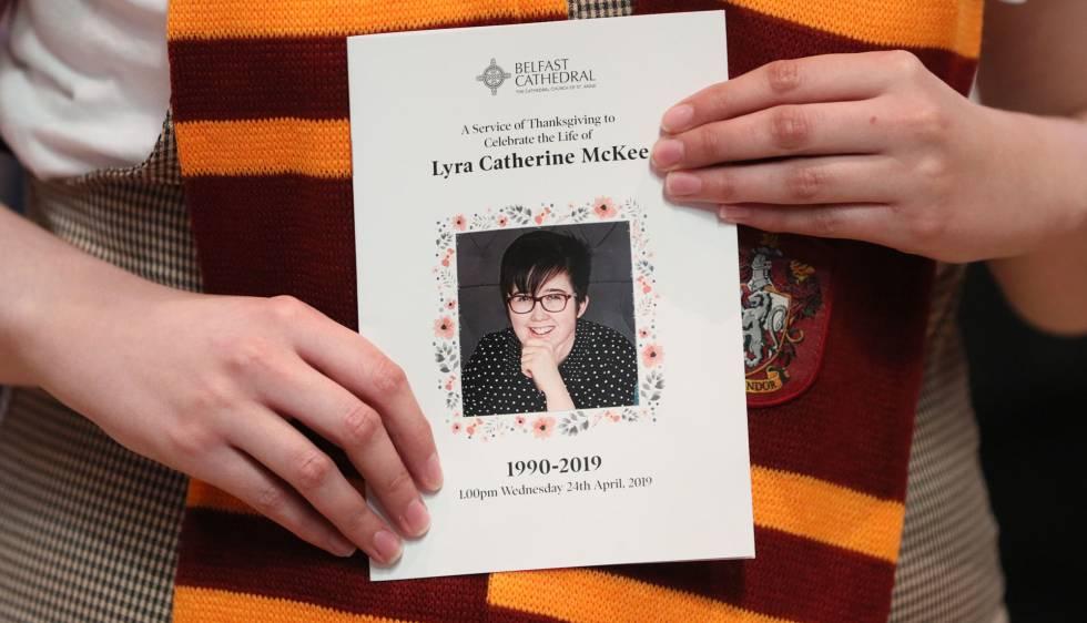 Funeral de la periodista Lyra McKee en Belfas, el 24 de abril de 2019.
