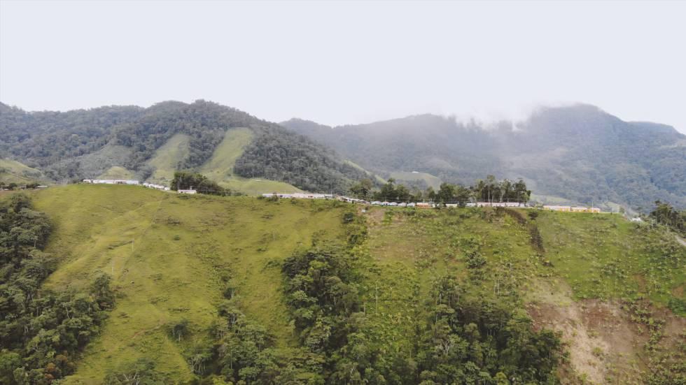 El espacio de reincorporación de Miravalle, en Caquetá.