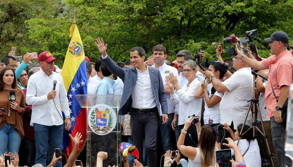 Juan Guaido, este sábado en Caracas, Venezuela.