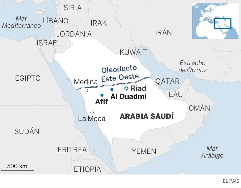 Un ataque con drones golpea la red de oleoductos de Arabia Saudí