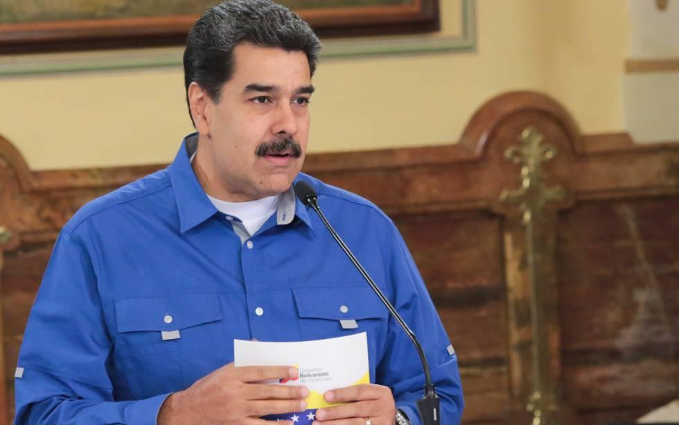 El presidente Nicolás Maduro, en Caracas.