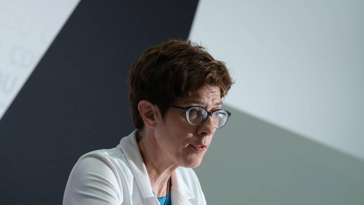 Annegret Kramp-Karrenbauer, el lunes en Berlín.
