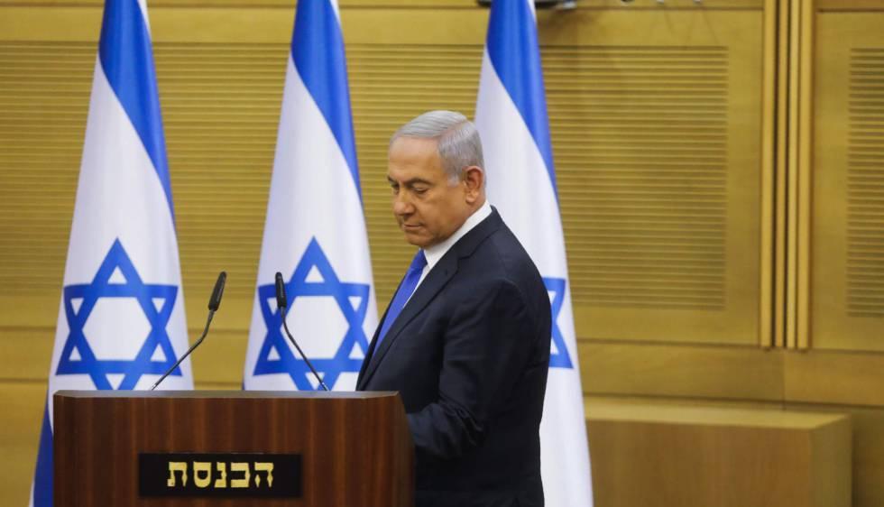 El primer ministro israelí, Benjamín Netanyahu, el lunes en la Kneset ( Parlamento).