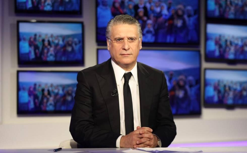 Nabil Karoui en una de sus apariciones televisivas.