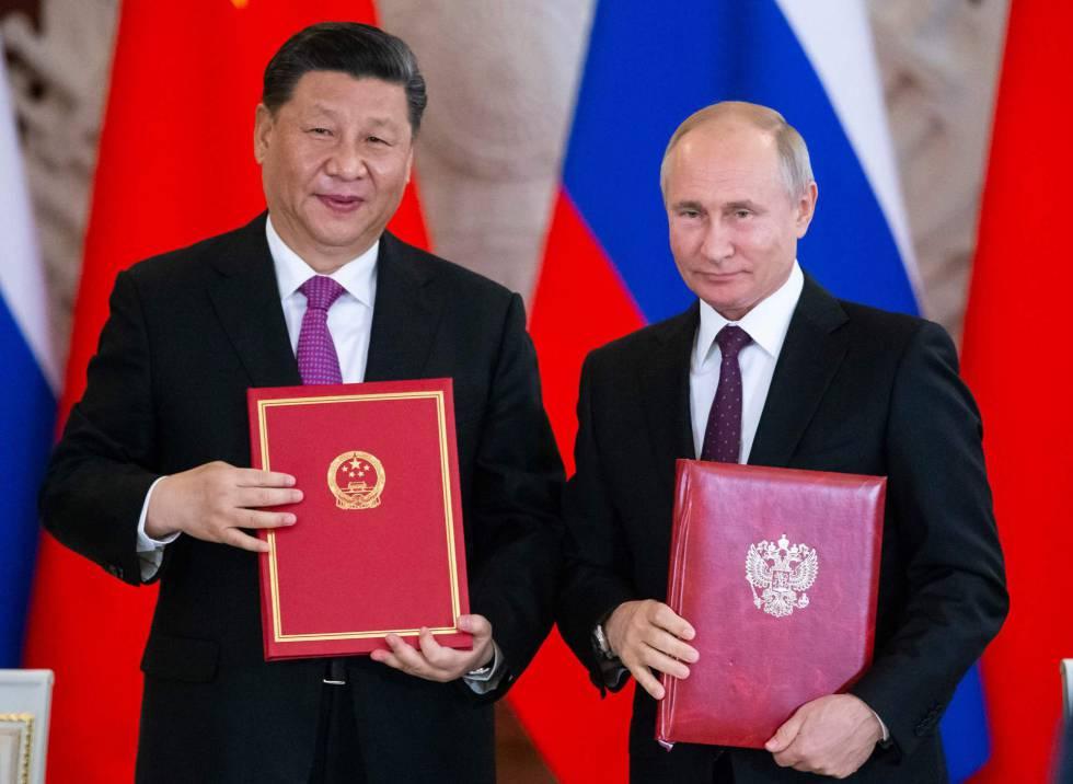 Xi y Putin este miércoles en Moscú.