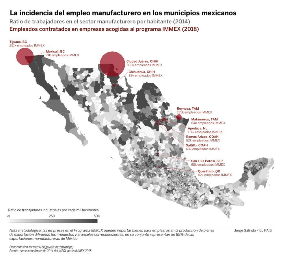 La exposición mexicana a una guerra de aranceles