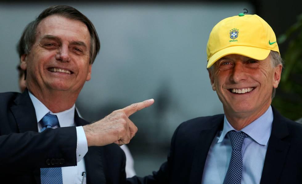 Jair Bolsonaro y Mauricio Macri el pasado jueves.