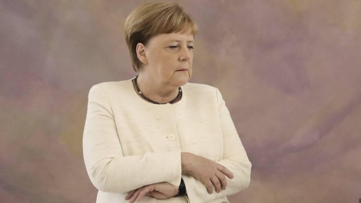 La canciller alemana, Angela Merkel, este jueves en Berlín.