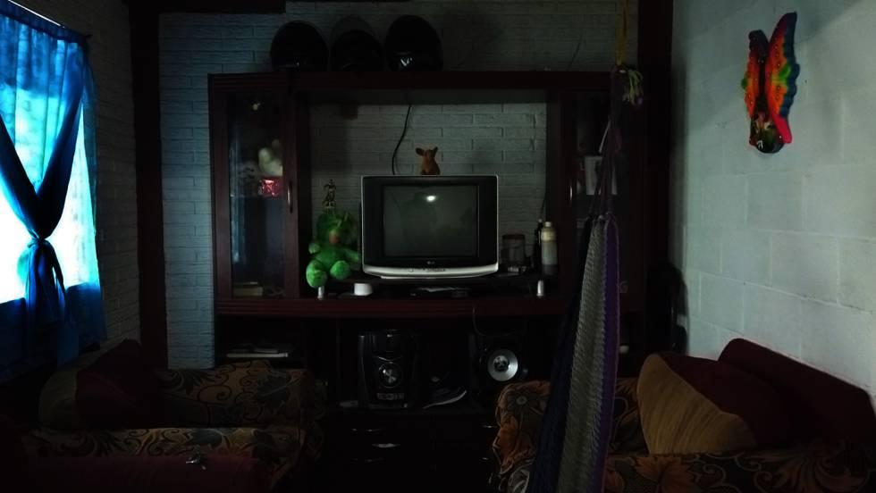 Vista del interior de la casa donde vivía Óscar y su familia en el barrio Altavista de San Salvador.