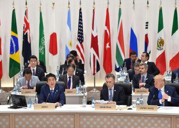 Varios líderes mundiales en la cumbre del G20 en Osaka (Japón).