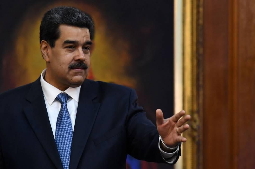 Nicolás Maduro durante un acto en el Palacio de Miraflores.
