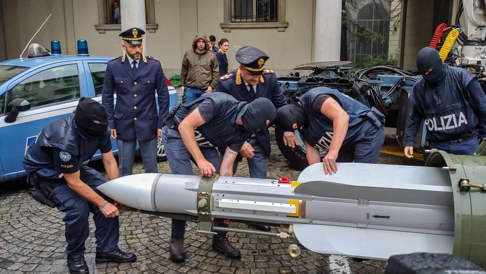 Incautan un arsenal de guerra a la extrema derecha en Italia