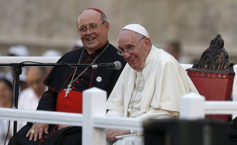 Jaime Ortega y el papa Francisco, en septiembre de 2015 en La Habana.
