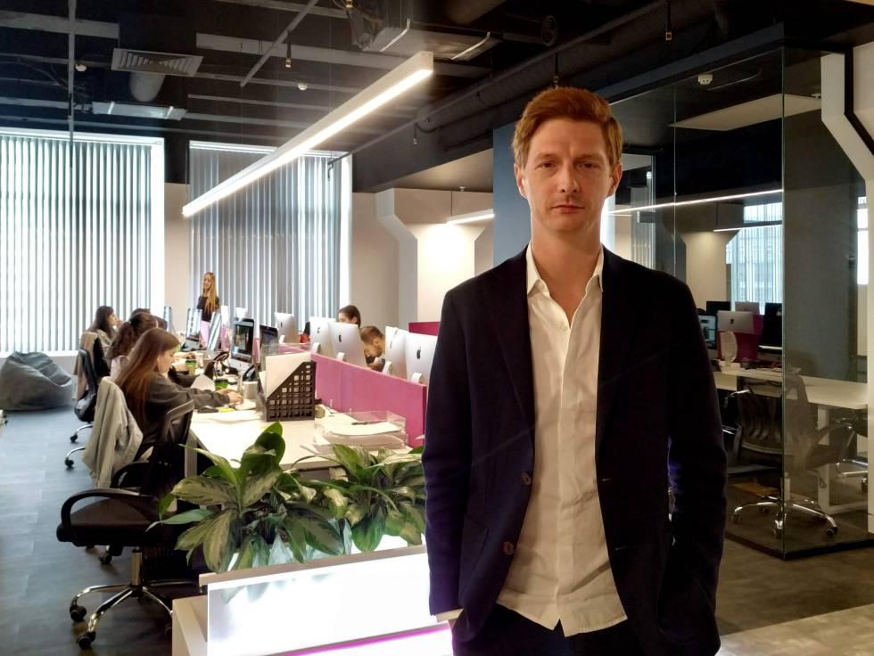 Maxim Iksánov, director de Mash, en su redacción de Moscú.